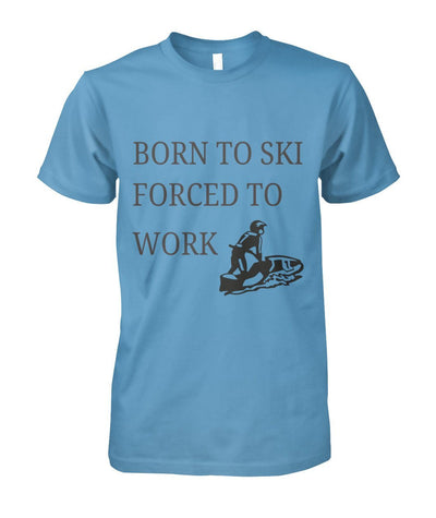 Born To Ski Shirt - Carolina Blue / S / Unisex Cotton Tee