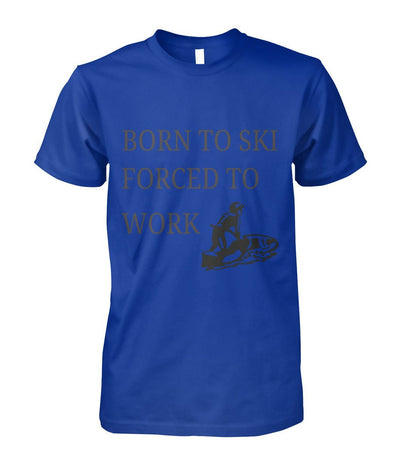 Born To Ski Shirt - Royal / S / Unisex Cotton Tee