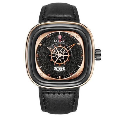 Leather Watch - 9030-RGB-RG-B black brown