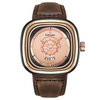 Leather Watch - 9030-BRG-RG-BN brown