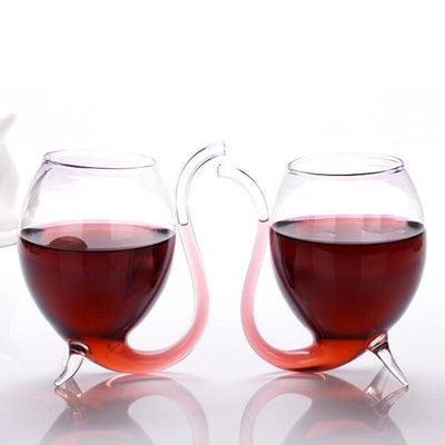 Elegant Wine Glass with Straw -