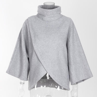Asymmetrical Turtleneck Sweater -