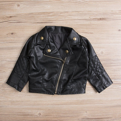 Kid's Stylish Faux Leather Jacket -