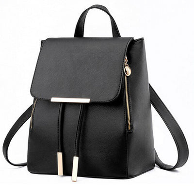 Women PU Leather Backpack -