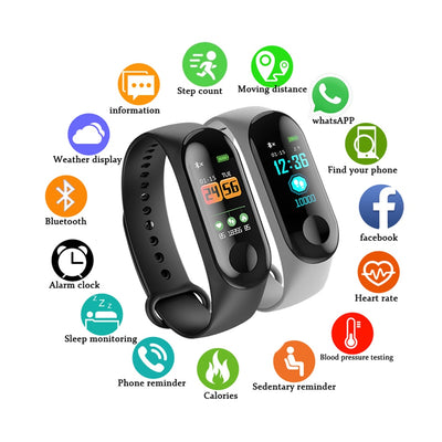 Electronics smartwatch with fitness tracker -
