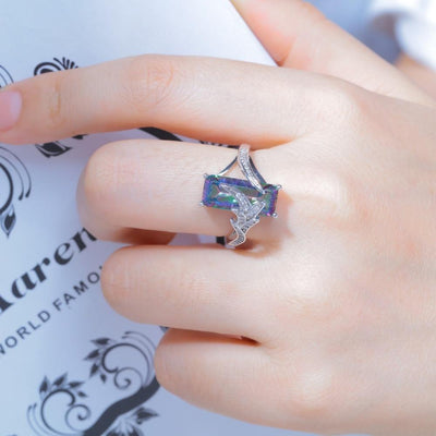 Rainbow Cubic Zirconia Ring -
