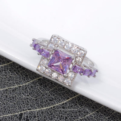 Amethyst Square Ring -