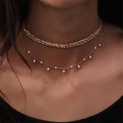 Dazzling Multi-Layered Necklace -
