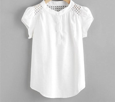 Eyelet Embroidered Blouse -