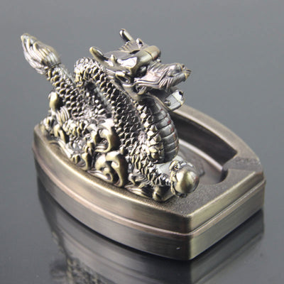 Dragon Ashtray With Refillable Gas Lighter -