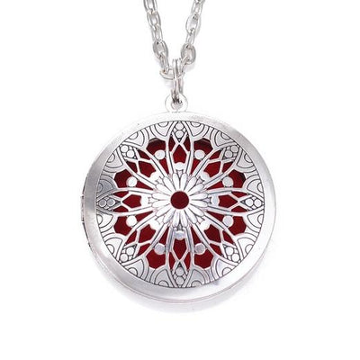 Essential Oil Diffuser Filigree Necklace - Style 5