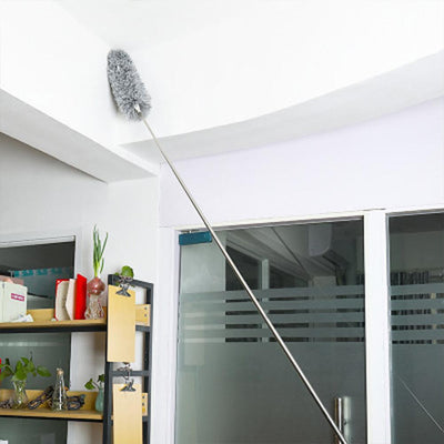 expandable feather duster with telescopic pole -