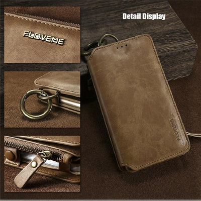 Business Leather Wallet Case -