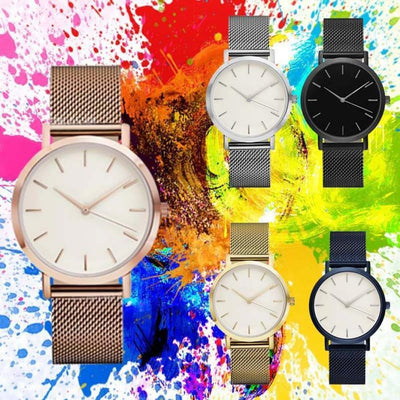 Women Crystal Stainless Steel Watch -