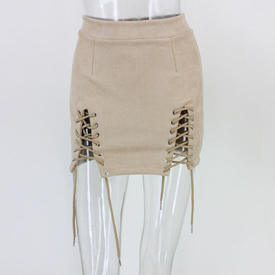 Double Lace-Up Skirt -