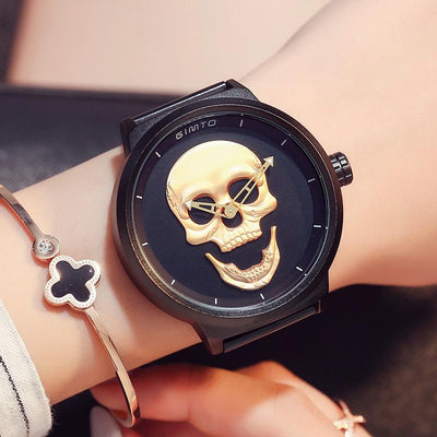 Stainless Steel Skull Watch -