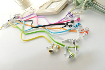 Glow in Dark Zipper Earphones