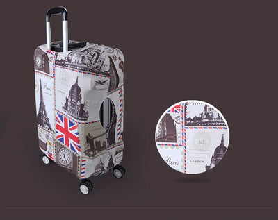 Varicolored Suitcase Protective Cover -
