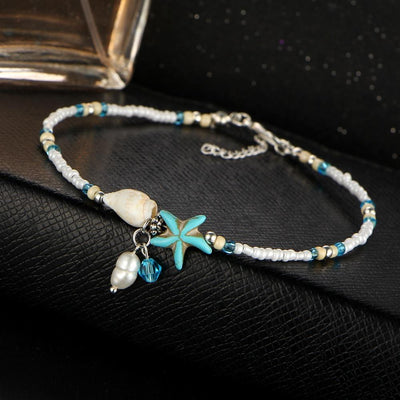 Starfish Charms Anklet -