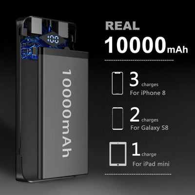 10000mAh LED Power Bank -