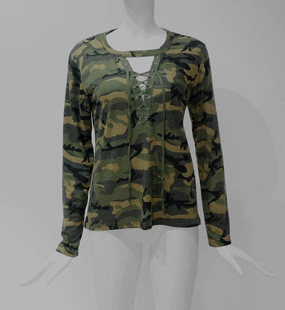 Military T-shirt with Laces for Women -