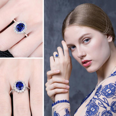 Blue Sapphire Ring For Women -