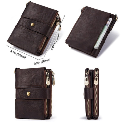 Genuine Leather RFID Wallet -