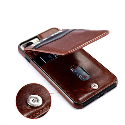 Vertical Flip Wallet Case For iPhone -
