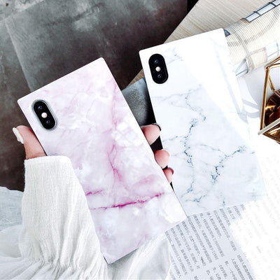 Marble Texture Pattern iPhone Case -