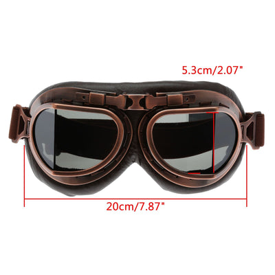Retro Steampunk Copper Motorcycle Goggles -