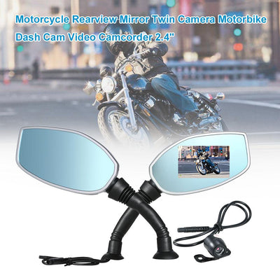 motorcycle twin camera dash cam mirrors -