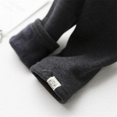 Cat Warm Fleece Leggings -