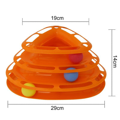 Rolling Ball Plate Toy for Cats -