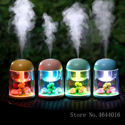 New Ultrasonic Air Humidifier with Aroma Lamp -