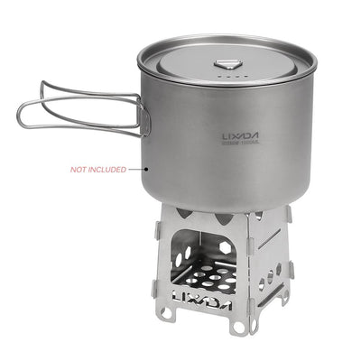 Ultralight Titanium Wood Burner Camping Stove -