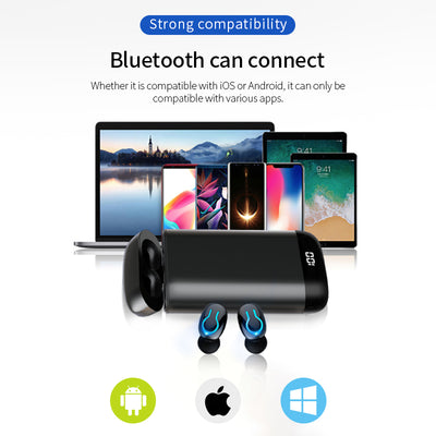 V5.0 Bluetooth Earphones With Dual Mic -