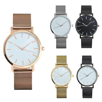 Mesh Strap Analog Quartz Watch -