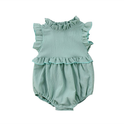 Newborn Baby Girls Sleeveless Romper