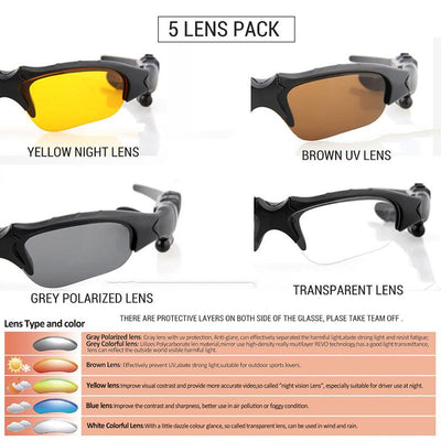 5 Lens Bluetooth Sunglasses -