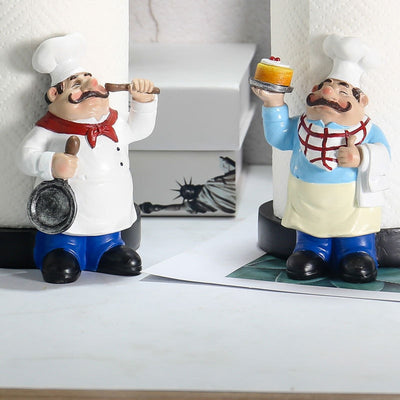 Chef Double Layer Paper Towel Holder -