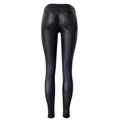 PU Leather Biker Pants -