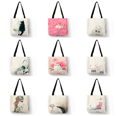 painted tote bag -