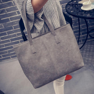Large Scrub Leather Handbag -