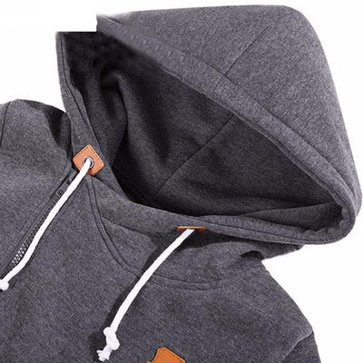 Women's Long Zip Up Sweatshirt Hoodie -