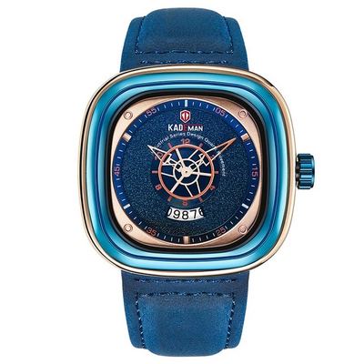 Leather Watch - 9030-RGBE-BE-BE blue