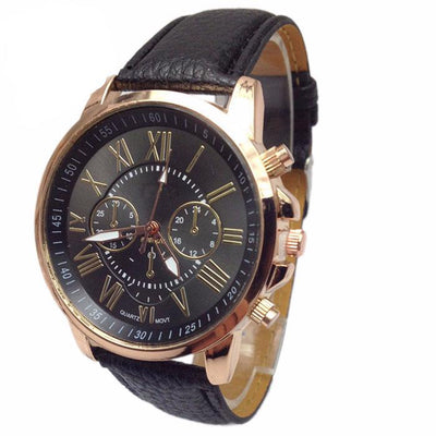 Luxury Fashion Faux Leather Men's Watch -
