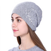 Knitted Hat for Women - Gray