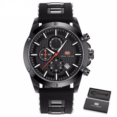 Focus Wrist Watch for Men - Black