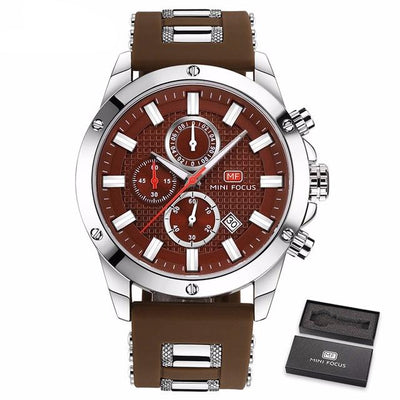 Focus Wrist Watch for Men - Brown