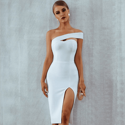 Alyce Bodycon Bandage Dress - White / XS